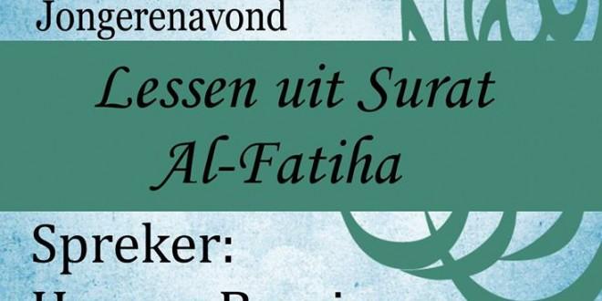 Ustedh Hassan Barzizoua: Lessen uit surat Al-Fatiha