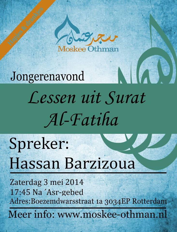 lessen uit Al Fatiha