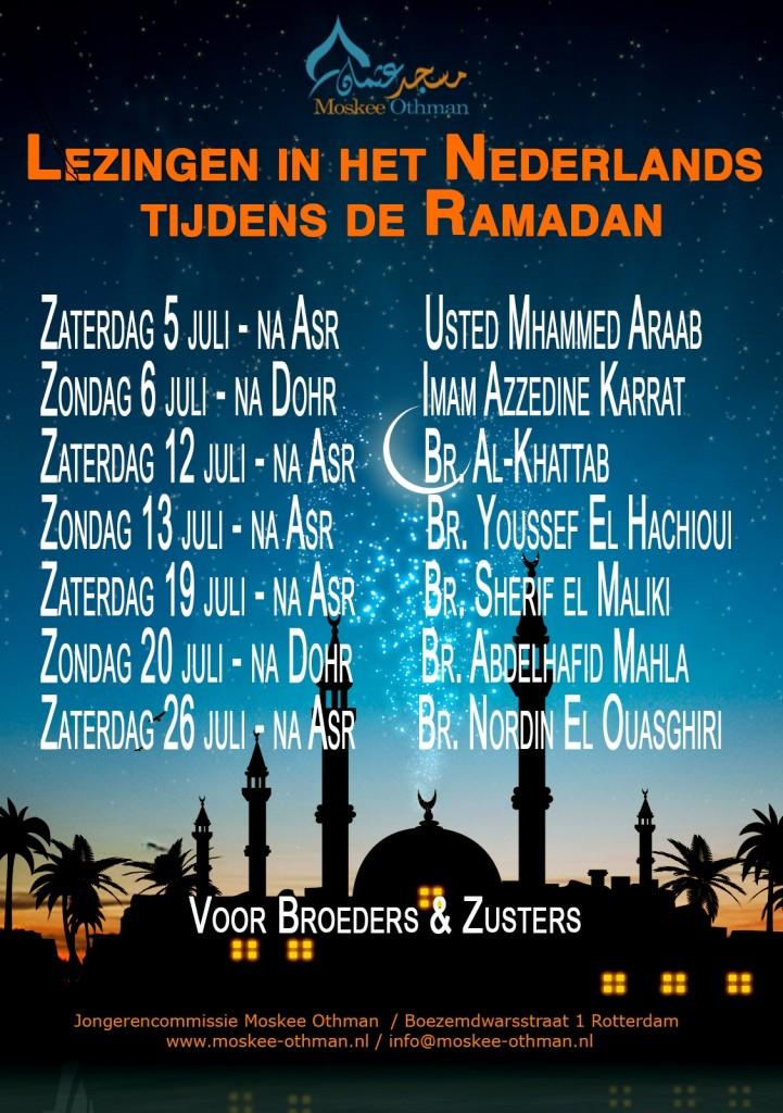 NLse lezingen Ramadan 2014